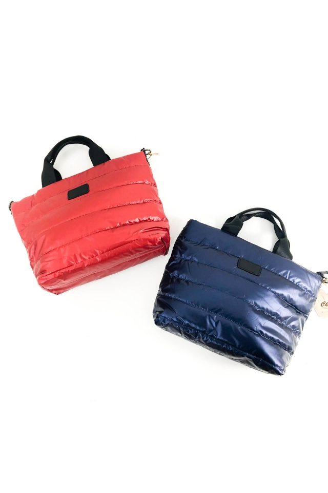 Bolso shopper lona brillante YOLI