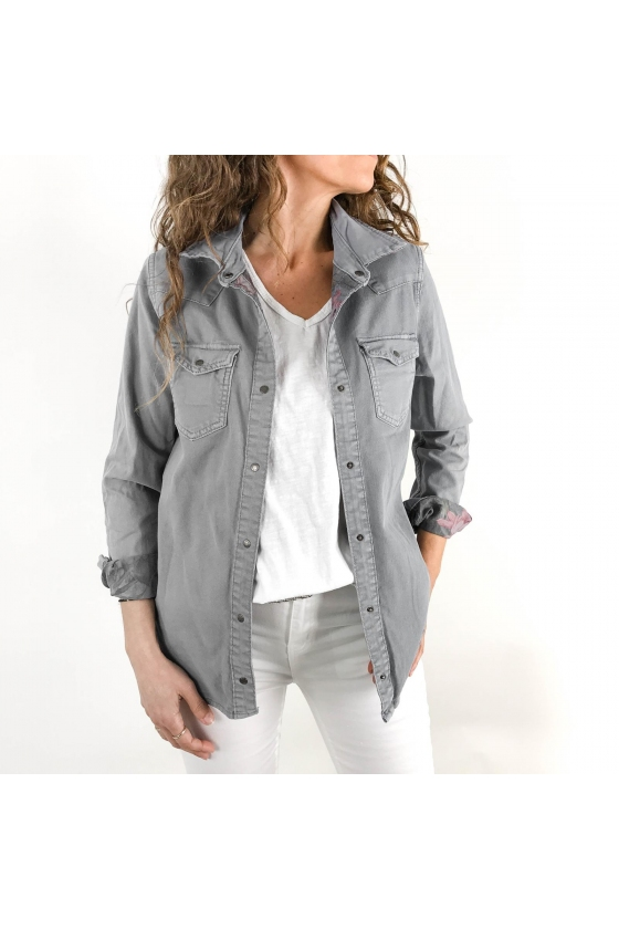 Sobrecamisa denim reversible DIANA